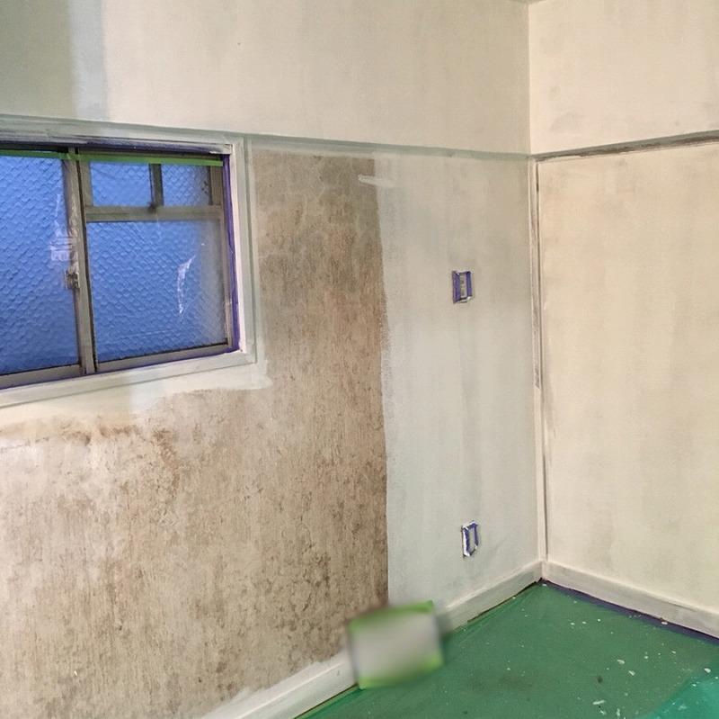 室内塗装下塗り