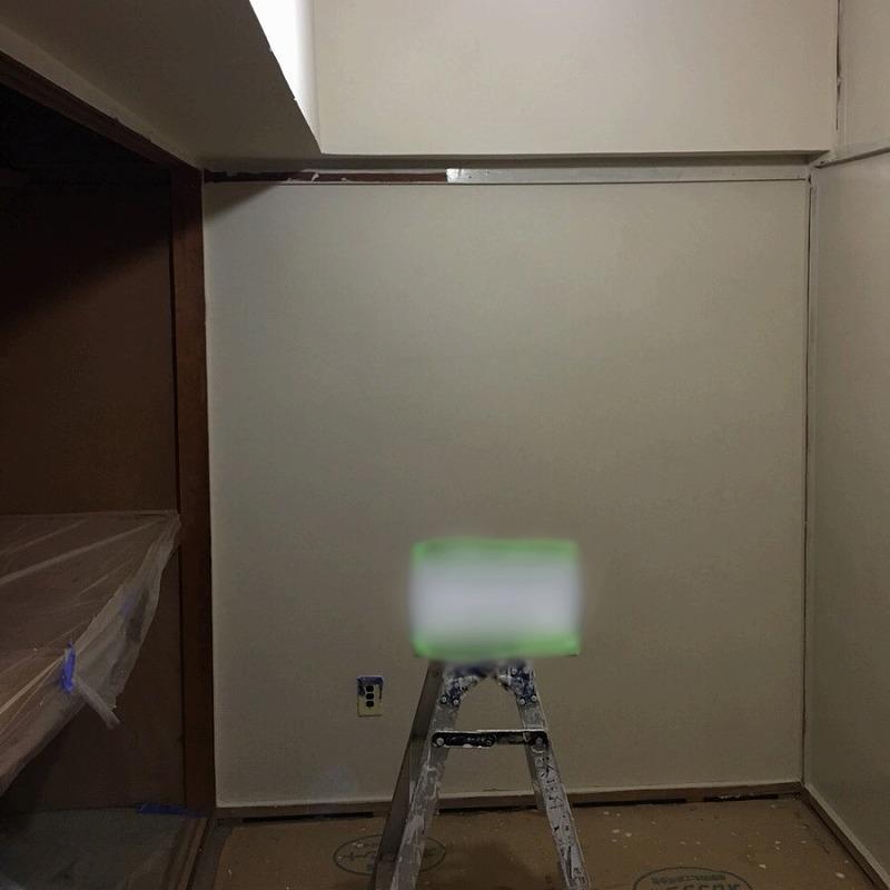壁面仕上げ塗装後